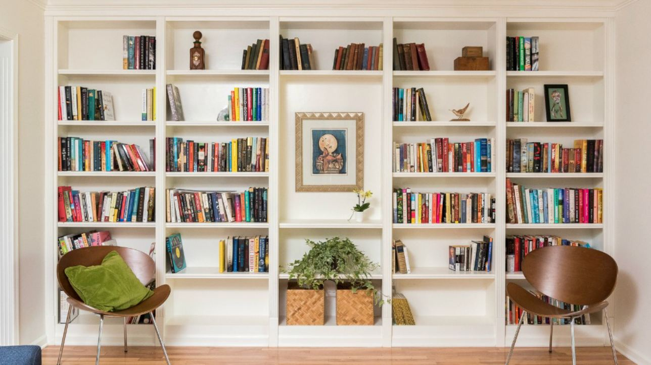Matching Existing Detailing In New Floor To Ceiling Bookcase