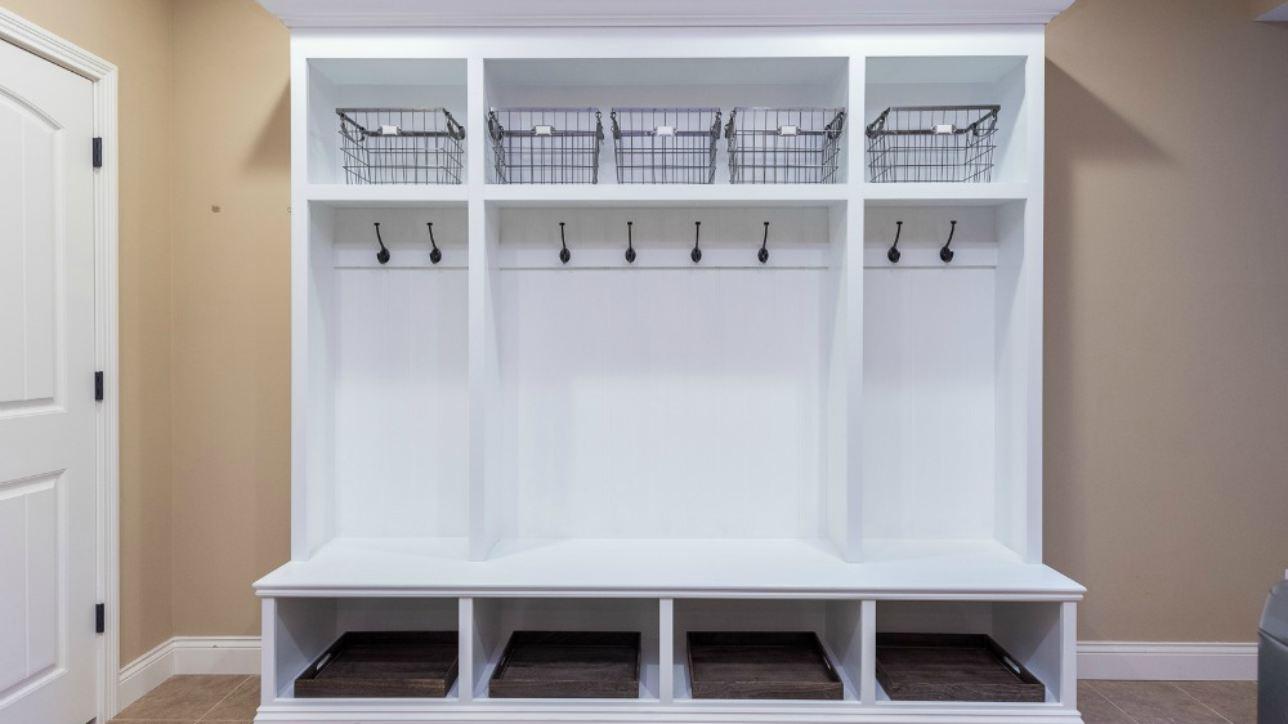 Custom Storage For Mudroom Organization